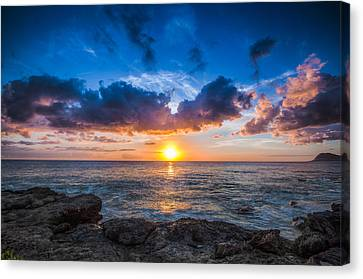 Sunset In Paradise Canvas Print by Mike Lee