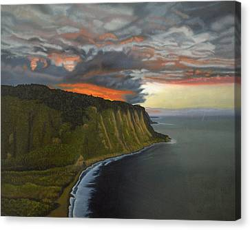 Sunset In Paradise Canvas Print by Thu Nguyen
