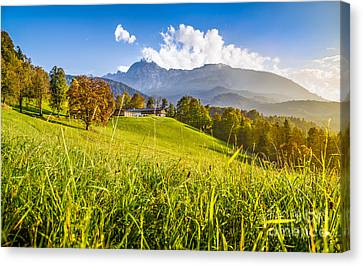 Sunset In The Alps Canvas Print by JR Photography
