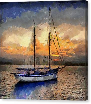 Sunset In The Bay Canvas Print by Dragica  Micki Fortuna