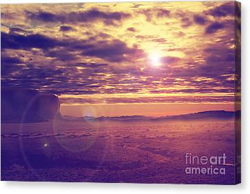 Sunset In The Desert Canvas Print by Jelena Jovanovic