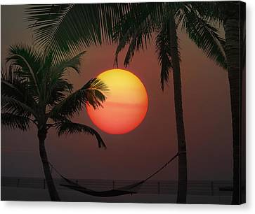 Sunset In The Keys Canvas Print by Bill Cannon