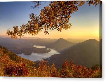 Sunset Light Canvas Print by Debra and Dave Vanderlaan