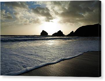Sunset On Ballydowane Beach, Bunmahon Canvas Print by Panoramic Images