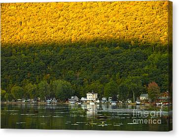 Sunset On Canandaigua Lake Canvas Print by Steve Clough