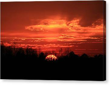 Sunset On Fire  Canvas Print by Reid Callaway