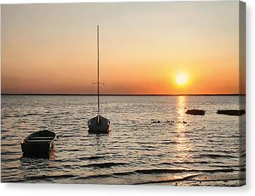 Sunset On Lbi Canvas Print by Diana Angstadt