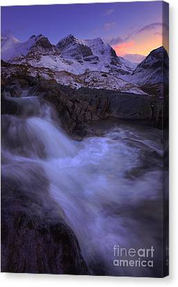 Sunset On Mount Andromeda Canvas Print by Dan Jurak