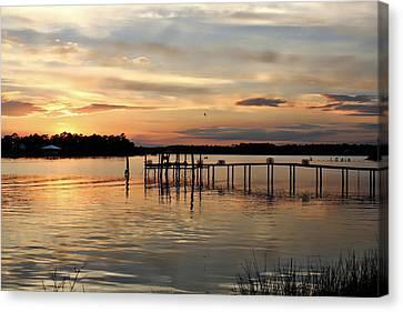 Sunset On Oyster Bay Canvas Print by Lynn Jordan