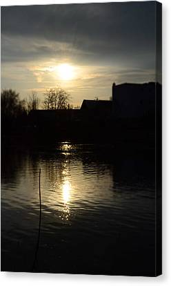 Sunset On The River Canvas Print by Samantha Morris