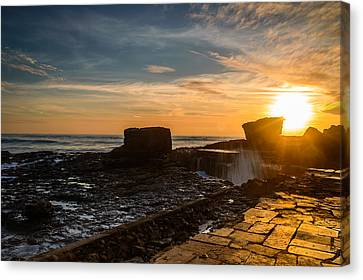 Sunset Over A Rough Sea IIi Canvas Print by Marco Oliveira