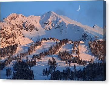 Sunset Over Blackcomb Mountain Canvas Print by Pierre Leclerc Photography