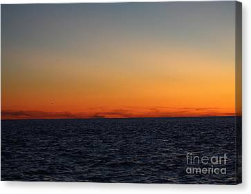 Sunset Over Point Lookout Canvas Print by John Telfer