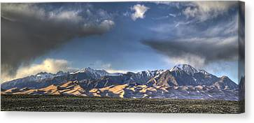 Sunset Over The Dunes Canvas Print by Aaron Spong