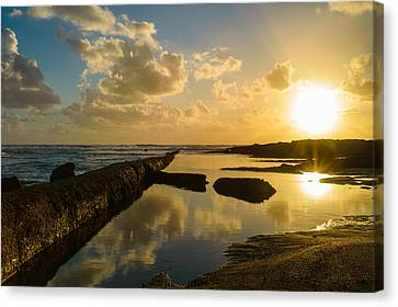 Sunset Over The Ocean II Canvas Print by Marco Oliveira
