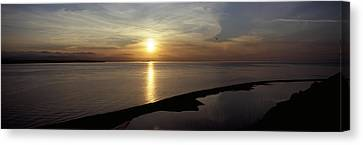 Sunset Over The Sea, Ebeys Landing Canvas Print by Panoramic Images