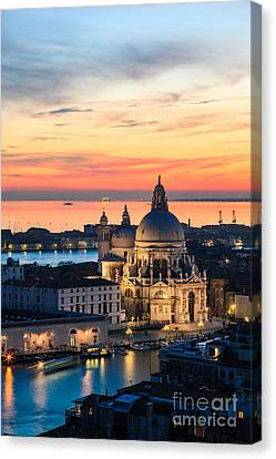 Sunset Over Venice - Italy Canvas Print by Matteo Colombo