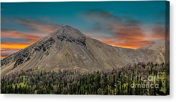 Sunset Over White Knob Mountain Canvas Print by Robert Bales