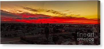 Sunset Over Yuma Canvas Print by Robert Bales