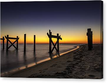 Sunset Pier Canvas Print by CJ Bryant
