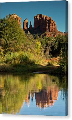 Sunset, Reflections, Oak Crek Canvas Print by Michel Hersen
