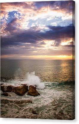 Sunset Rocks Canvas Print by Vicki Jauron