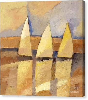 Sunset Sailing Canvas Print by Lutz Baar