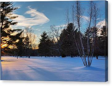 Sunset Shadows Canvas Print by Bill Wakeley