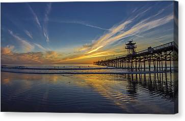 Sunset Surf Canvas Print by Sean Foster