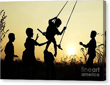 Sunset Swing Canvas Print by Tim Gainey