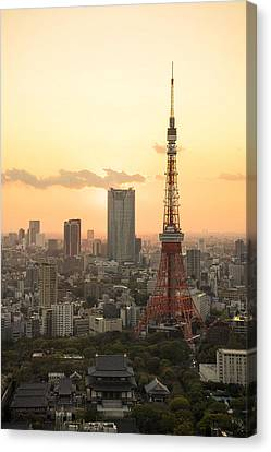 Sunset Tokyo Tower Canvas Print by For Ninety One Days