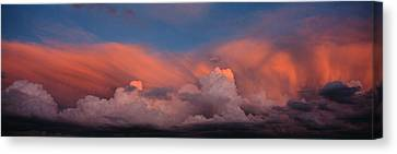 Sunset Ut Usa Canvas Print by Panoramic Images