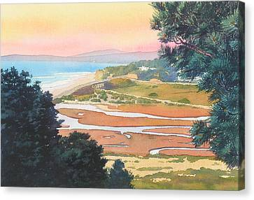 Sunset View From Torrey Pines Canvas Print by Mary Helmreich