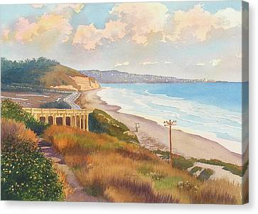 Sunset View Of Torrey Pines Canvas Print by Mary Helmreich