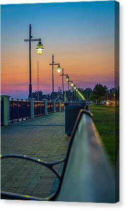 Sunset Walk Canvas Print by Chris Modlin