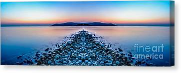 Sunset Way Canvas Print by Adrian Evans