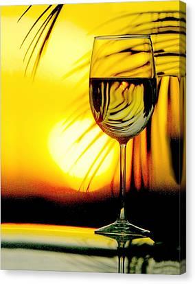 Sunset Wine Canvas Print by Jon Neidert