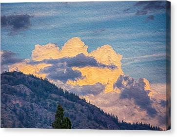 Sunset With A Smile Canvas Print by Omaste Witkowski