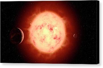 Super Earth Alien Planet Canvas Print by Joe Tucciarone