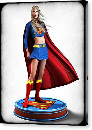 Super Girl V1 Canvas Print by Frederico Borges