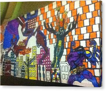 Super Heroes Canvas Print by Mj  Museum