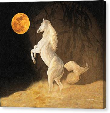 Super Moonstruck Canvas Print by Angela A Stanton