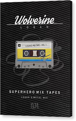 Superhero Mix Tapes - Wolverine Canvas Print by Alyn Spiller