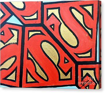 Superman Canvas Print by Juan Molina