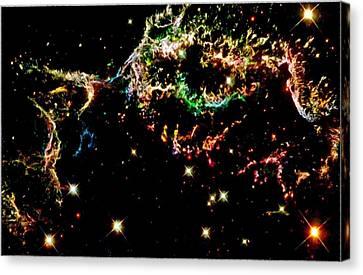 Supernova Remnant Cassiopeia A Canvas Print by Amanda Struz