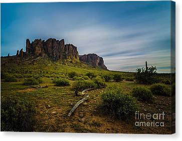 Superstition In Motion Canvas Print by Bill Cantey