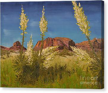 Superstition Mountain Canvas Print by Jack Hedges