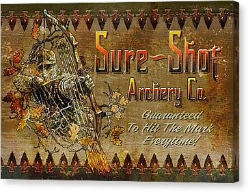 Sure Shot Archery Canvas Print by JQ Licensing