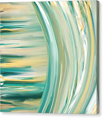 Surf And Sand Canvas Print by Lourry Legarde