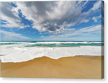 Surf At The Water's Edge Canvas Print by Wladimir Bulgar